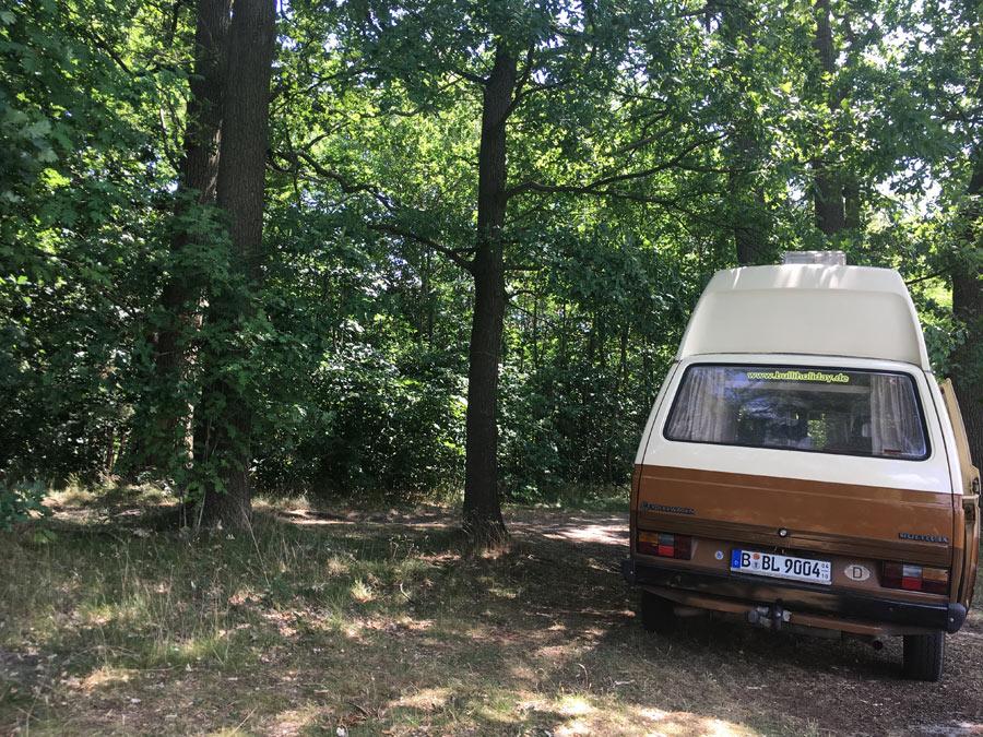 11205_VW-Bulli-Kuno_Camping-im-Wald
