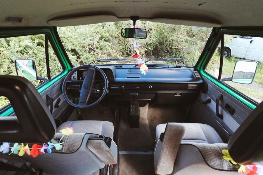BulliHoliday VW Camper mieten Perle - Fahrerkabine