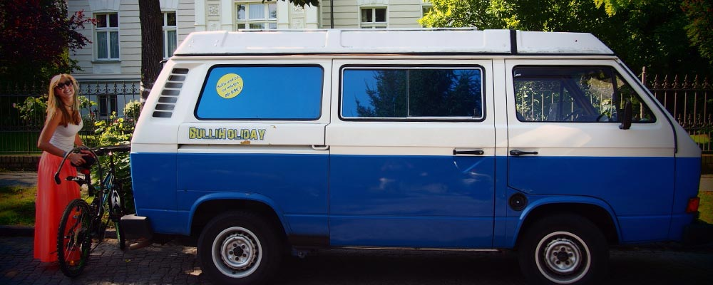 Städtereisen mit Klasse<br>im Classic VW Bus von Bulliholiday!